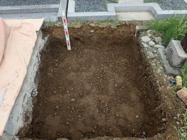 40cm程度掘りました