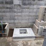 一枚石の御影石納骨室工事の完了