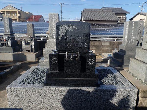 純国産墓石浮金石のお墓建立