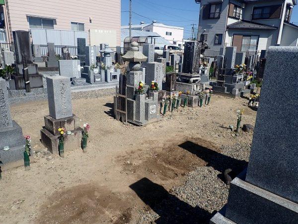お墓の回収完了