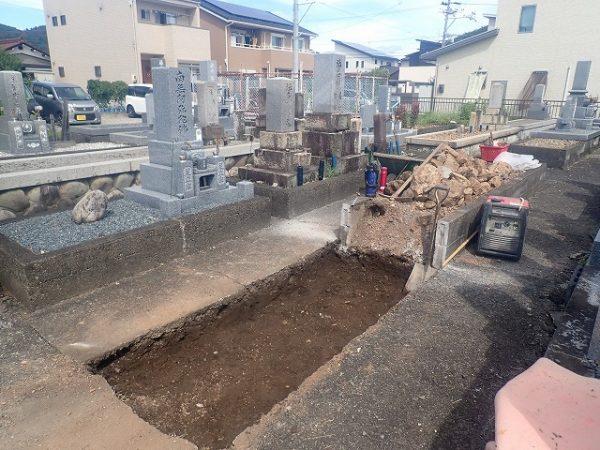 土掘り完了