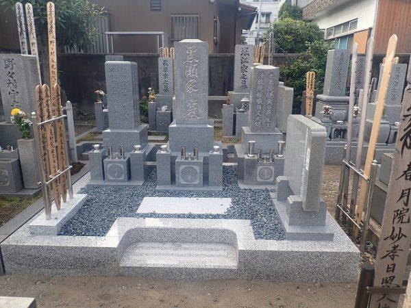 お墓リフォームとお墓建立工事完成