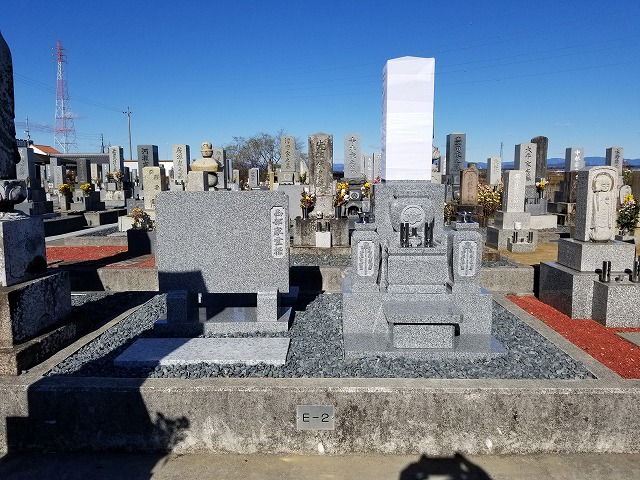 純国産大島石のお墓建立