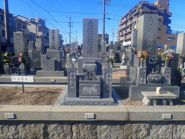 純国産唐原石のお墓建立