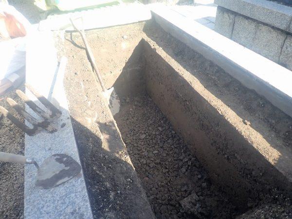 底まで掘りました