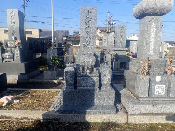 純国産天山石のお墓完成
