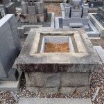 石マスと納骨石の葢工事完了
