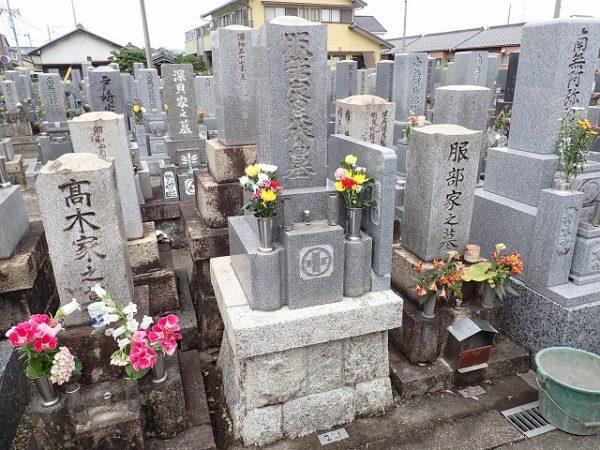 狭所用墓誌とお墓掃除完了