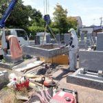外柵基礎石を回収