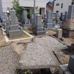 移転の為のお墓回収工事完了