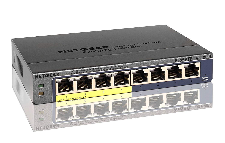 NETGEAR スイッチングハブ ギガビット PoEスイッチ 8ポート